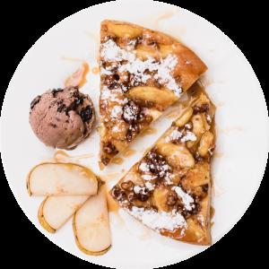 desert tarta de mere inghetata